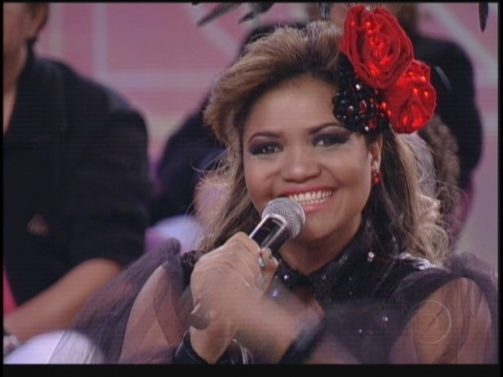 Gaby Amarantos durante o 