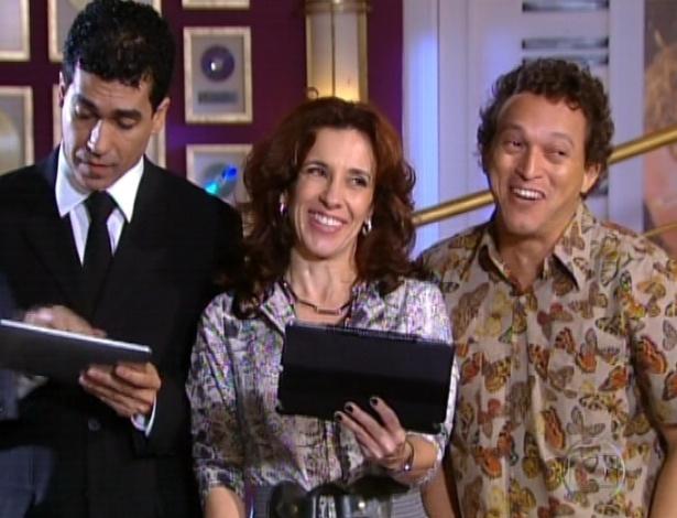 Segurança de Chayene, Simone e Naldo comemoram o sucesso de Chayene e Fabian nas mídia (28/9/12)