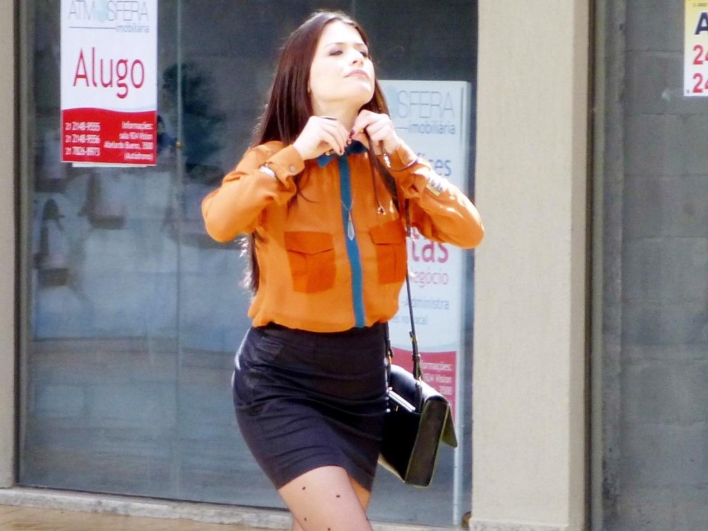 Alinne Moraes grava cenas do seriado
