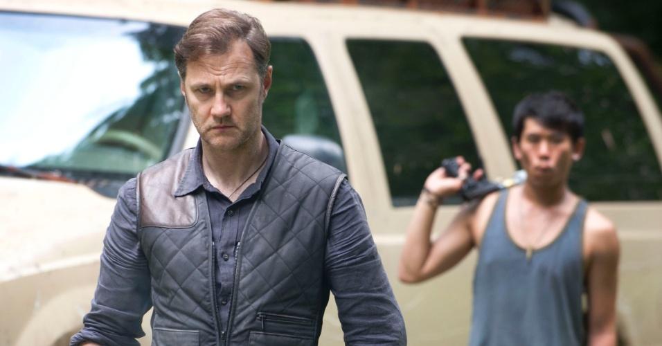 """Governador (David Morrissey) e  Andrea (Laurie Holden) aparecem em cena da terceira temporada de """"The Walking Dead"""", que estreia no dia 16 de outubro, às 22h15, na Fox"""
