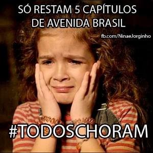 O meme se refere a cenas em que Rita (Mel Maia) chorava desesperada por medo de Carminha (Adriana Esteves)