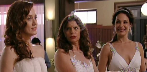 """Noêmia, Verônica e Alexia se casam com Cadinho no último capítulo de """"Avenida Brasil"""" (19/10/12)"""