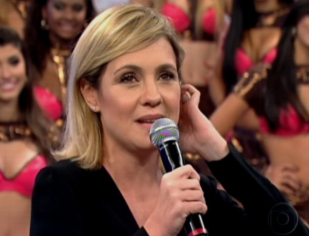 "Adriana Esteves participa do ""Domingão do Faustão"" (28/10/12)"