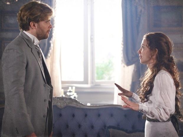 """Em """"Lado a Lado"""", Laura pede o divórcio para Edgar (5/11/12)"""