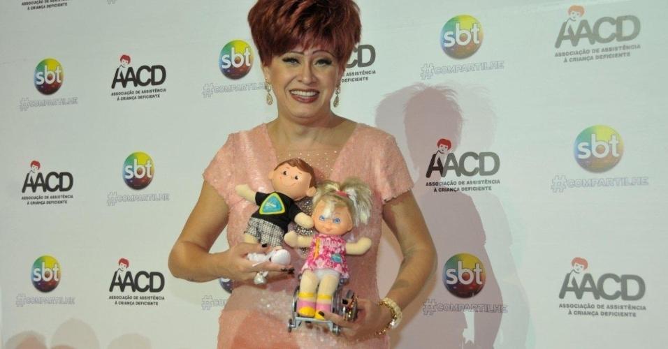 A atriz Nanny People participa do Teleton 2012, que pretende arrecadar R$ 25 milhões (10/11/12)