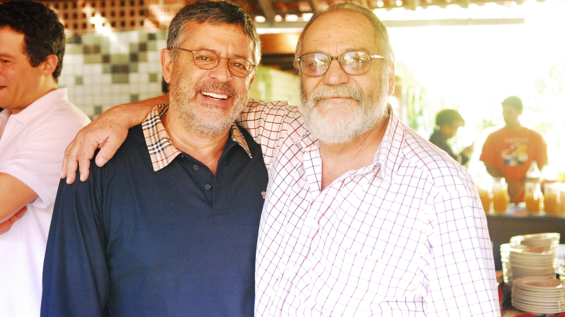 Marcos Paulo com Walther Negrão em foto de 2007. Negrão dirigiu