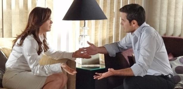 """Lívia e Haroldo em cena de """"Salve Jorge"""""""