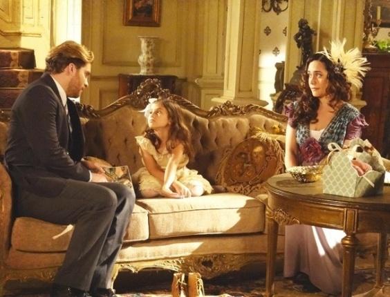 """Em """"Lado a Lado"""", Catarina faz chantagem com Edgar e o advogado cede (17/11/2012)"""