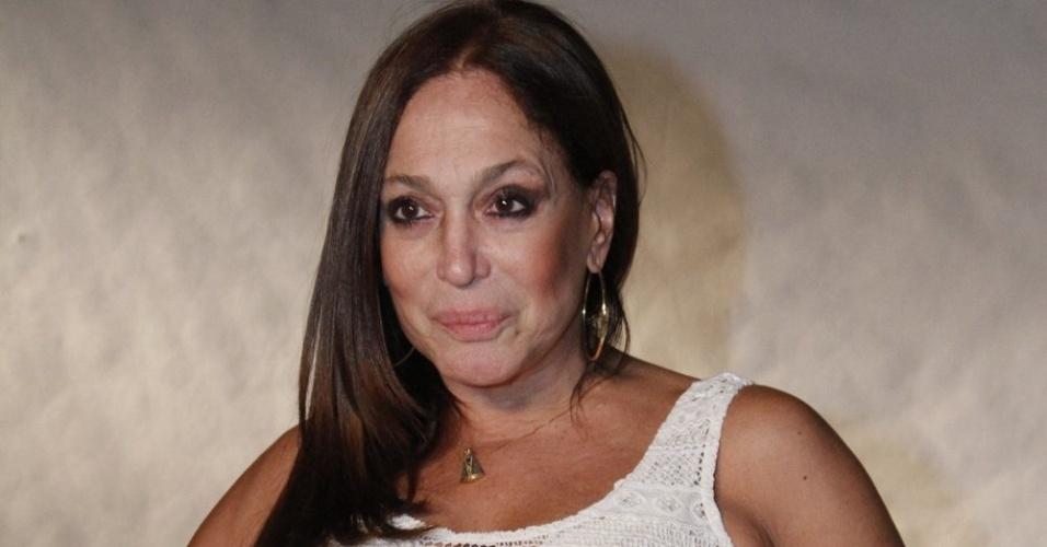 Susana Vieira na gravação do especial de final de ano de Roberto Carlos