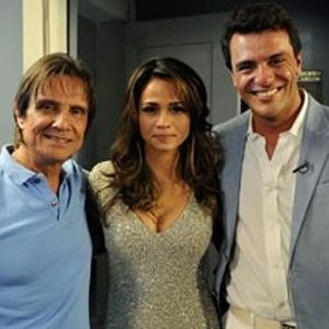 "Nanda Costa e Rodrigo Lombardi, protagonistas de ""Salve Jorge"", encontram Roberto Carlos (21/11/12)"