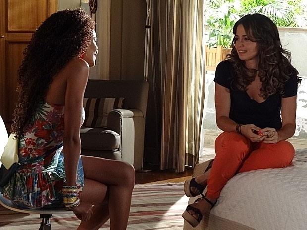 """Em """"Salve Jorge"""", Morena decide contar para Théo que vai Turquia depois do casamento (26/11/12)"""