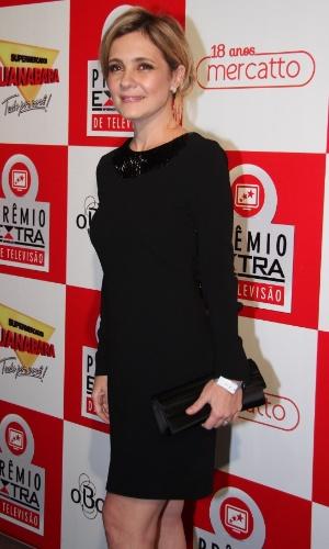 """A atriz Adriana Esteves, que foi protagonista de """"Avenida Brasil"""" como a personagem Carminha, participa do Prêmio Extra de Televisão 27.nov.2012"""