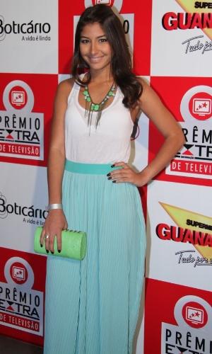A atriz Juliana Xavier participa do Prêmio Extra de Televisão, que acontece nesta terça (27), no Rio de Janeiro 27.nov.2012