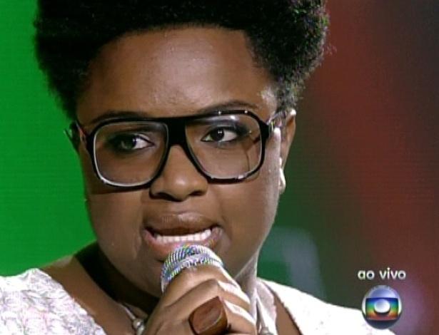 """Ellen Oléria canta """"Maria"""", de Milton Nascimento, na quinta semifinal do """"The Voice Brasil"""" (2/12/12)"""
