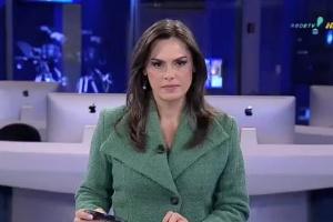 A apresentadora Claudia Barthel