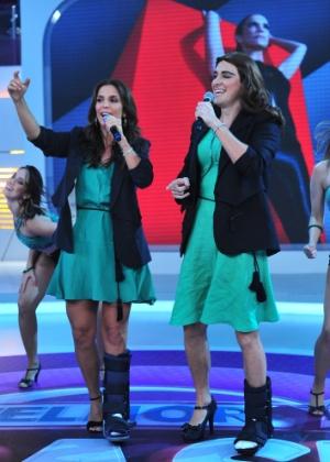 """Com o pé engessado, Ivete Sangalo é a convidada do Rodrigo Faro no """"Melhor do Brasil"""" (dez.12)"""