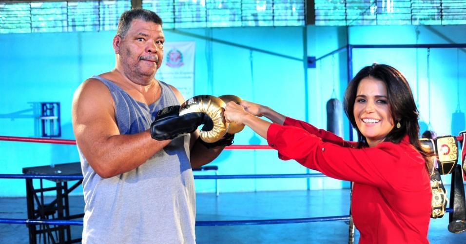 Adriana Araújo, da Record, entrevistou o ex-pugilista Adilson Maguila, um dos principais nomes do boxe brasileiro (dez.12)