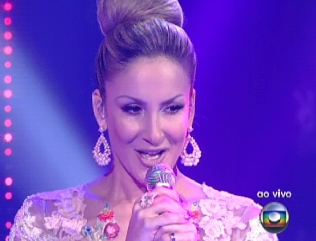 "16.dez.2012 - Claudia Leitte canta na final do ""The Voice Brasil"""