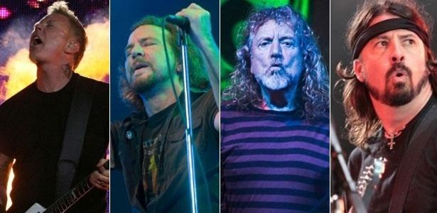 Os ouvintes podem acompanhar bandas e músicos como: Metallica, Pearl Jam, Robert Plant e Foo Fighters