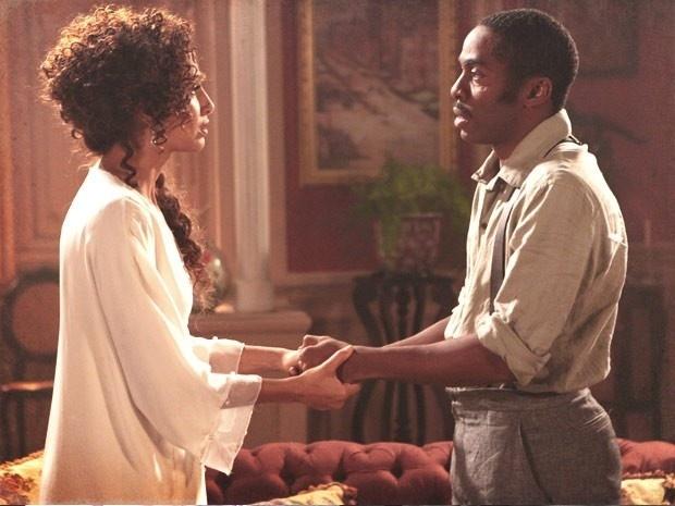 """Em """"Lado a Lado"""", Zé Maria diz para Isabel que ela é """"demais para ele"""" e termina o relacionamento"""