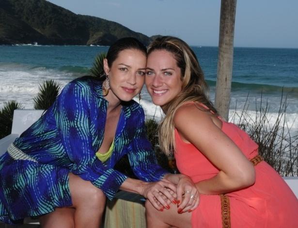 2013 - Luana Piovani grava com Giovanna Ewbank para o