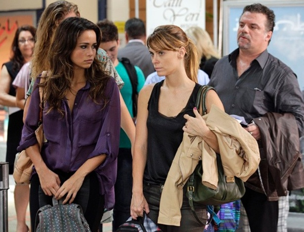 """Em """"Salve Jorge"""", Morena provoca Russo antes de embarcar para o Brasil"""