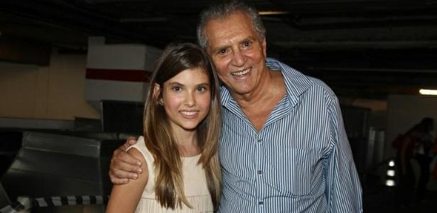 2012 - Carlos Alberto de Nóbrega e a filha Maria Fernanda