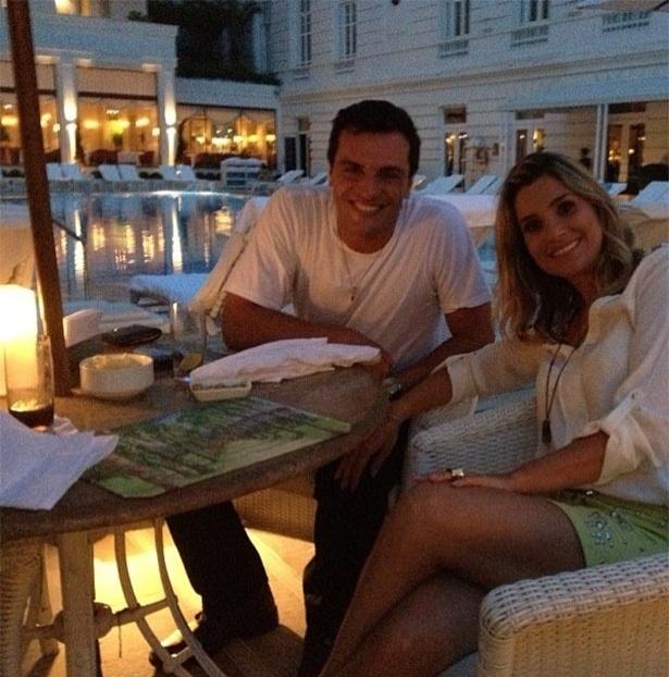 """Rodrigo Lombardi e Flávia Alessandra gravam cenas da novela """"Salve Jorge"""""""