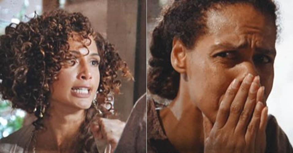 """16.jan.2013 - Em """"Lado a Lado"""", Isabel sai em busca de Elias e ameaça Zenaide"""