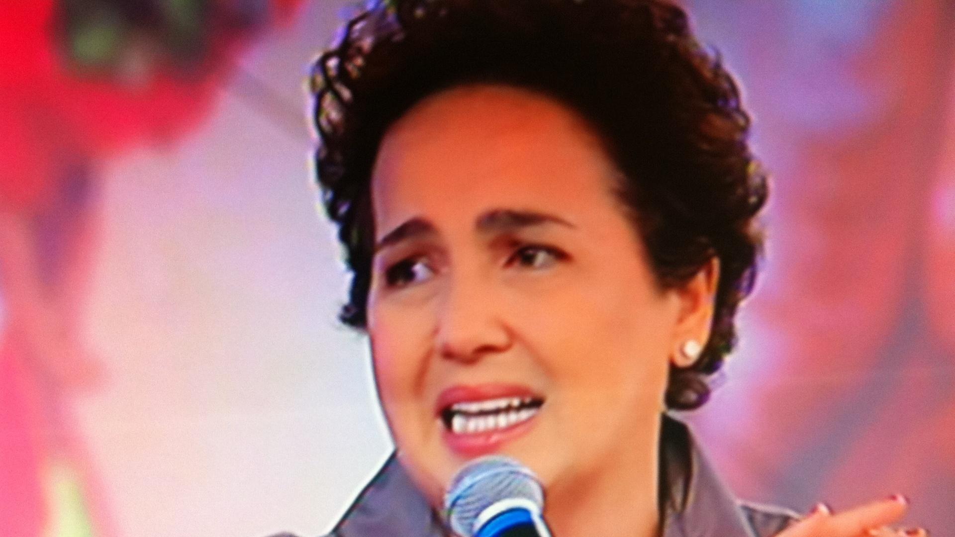 21.jan.2013 - Claudia Jimenez durante participação no