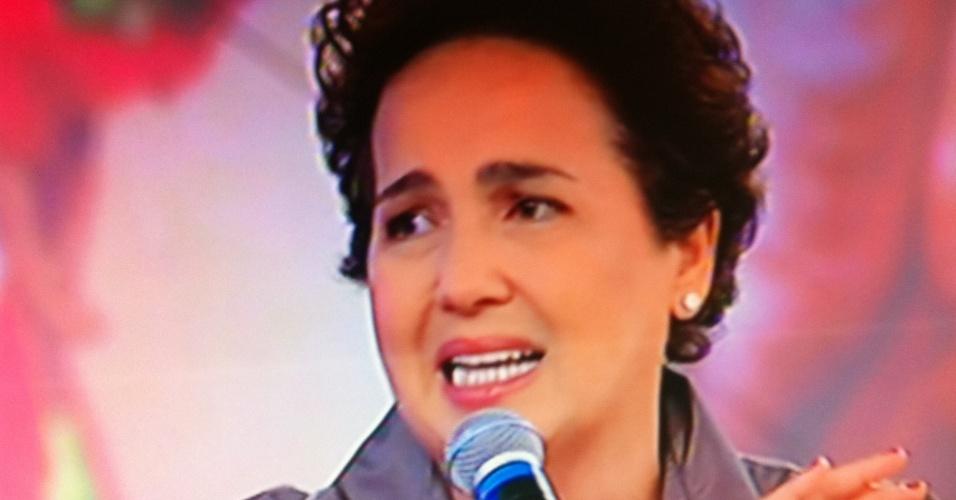 """21.jan.2013 - Claudia Jimenez durante participação no """"Encontro Com Fátima Bernardes"""""""