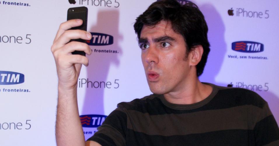16.dez.2012 - Marcelo Adnet no lançamento de loja de marca de celular no Shopping Eldorado, em São Paulo