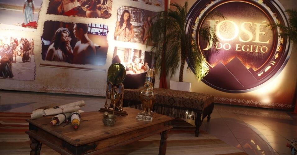 """30.jan.2013 - Decoração do evento de lançamento e exibição do 1º capítulo da minissérie da TV Record """"José do Egito"""", na Barra da Tijuca, Rio de Janeiro"""