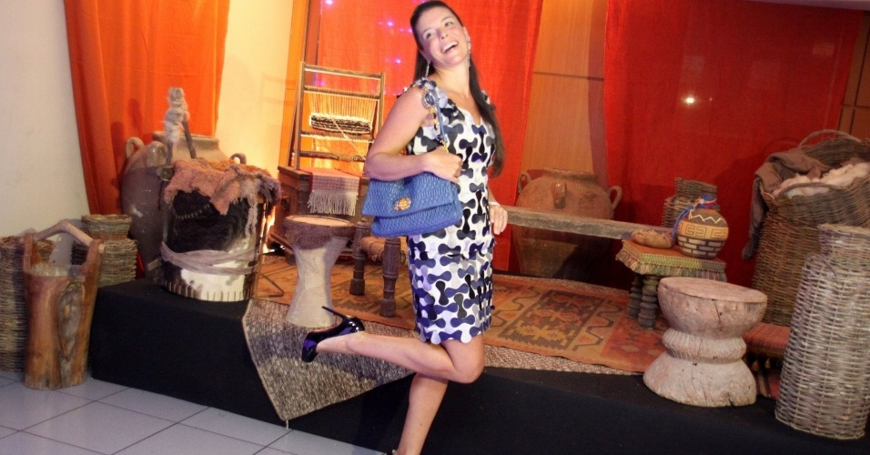 """30.jan.2013 - Mila Christie no evento de lançamento e exibição do 1º capítulo da minissérie da TV Record """"José do Egito"""", na Barra da Tijuca, Rio de Janeiro"""