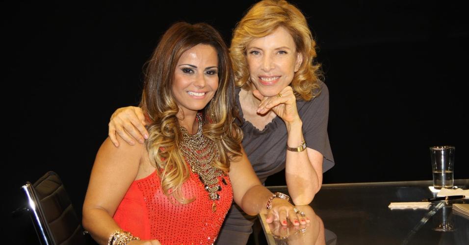 Jan.2013 - Viviane Araújo é entrevista por Marília Gabriela