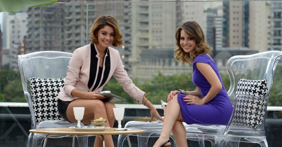 18.fev.2013 - Sophei Charlotte e Sandy gravam cena da nova novela das sete