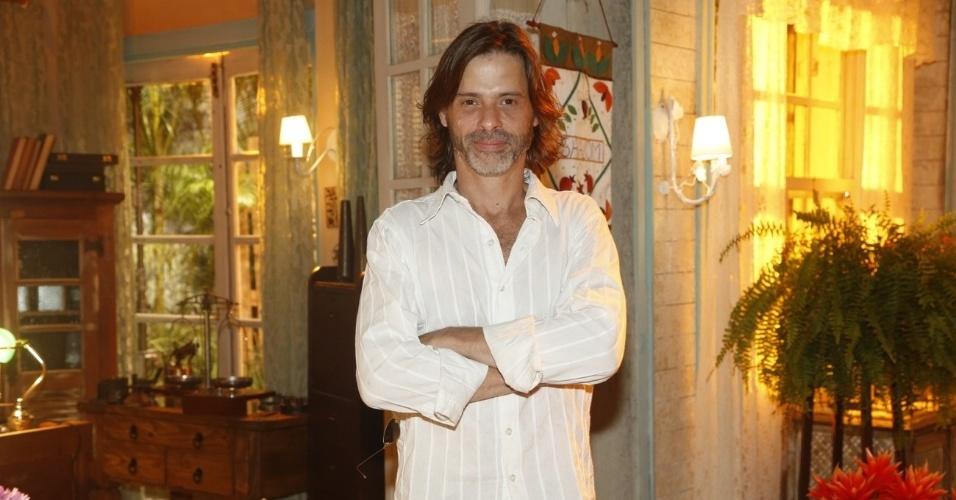 """19.fev.2013 - Marcos Winter participou da apresentação da novela """"Flor do Caribe"""" no Projac, complexo de estúdios da Globo localizado na zona oeste do Rio"""