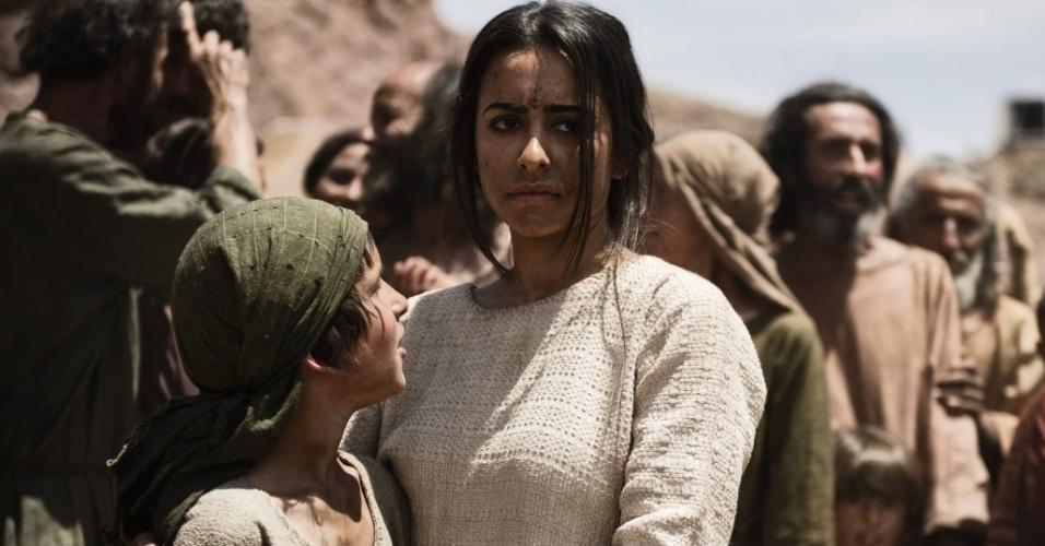 """5.mar.2013 - Ismael, filho de Abraão com sua concubina Tamar, em cena da série """"A Bíblia"""""""