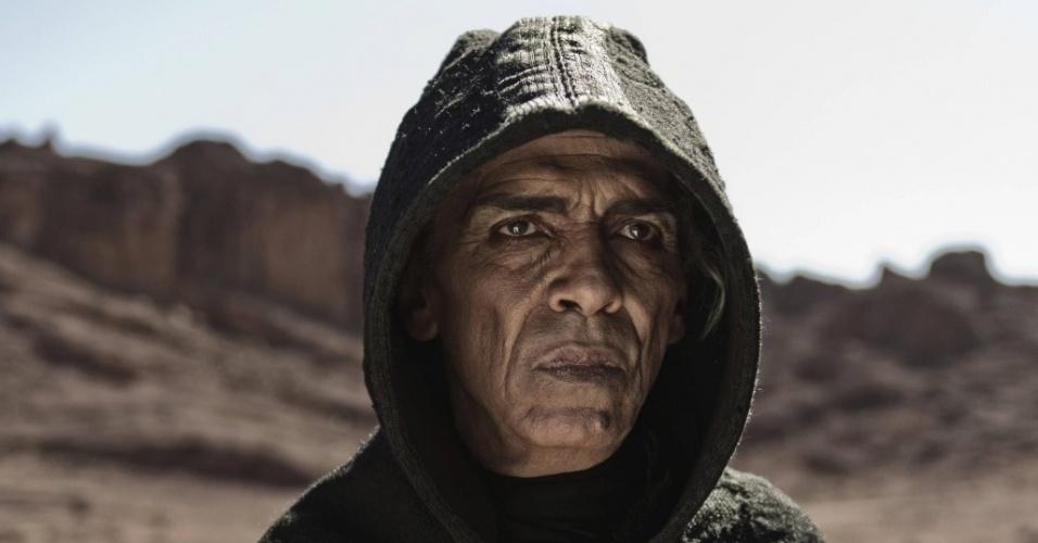 """5.mar.2013 - O ator Mohamen Mehdi Ouazanni interpreta Satanás em cena da série """"A Bíblia"""", exibida nos EUA pelo History Channel"""