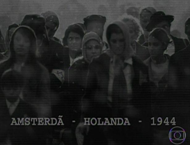11.mar.2013 O primeiro capítulo começou com flashback do personagem Samuel, que conseguiu fugir da Segunda Guerra Mundial quando seus pais foram levados para os campos de concentração