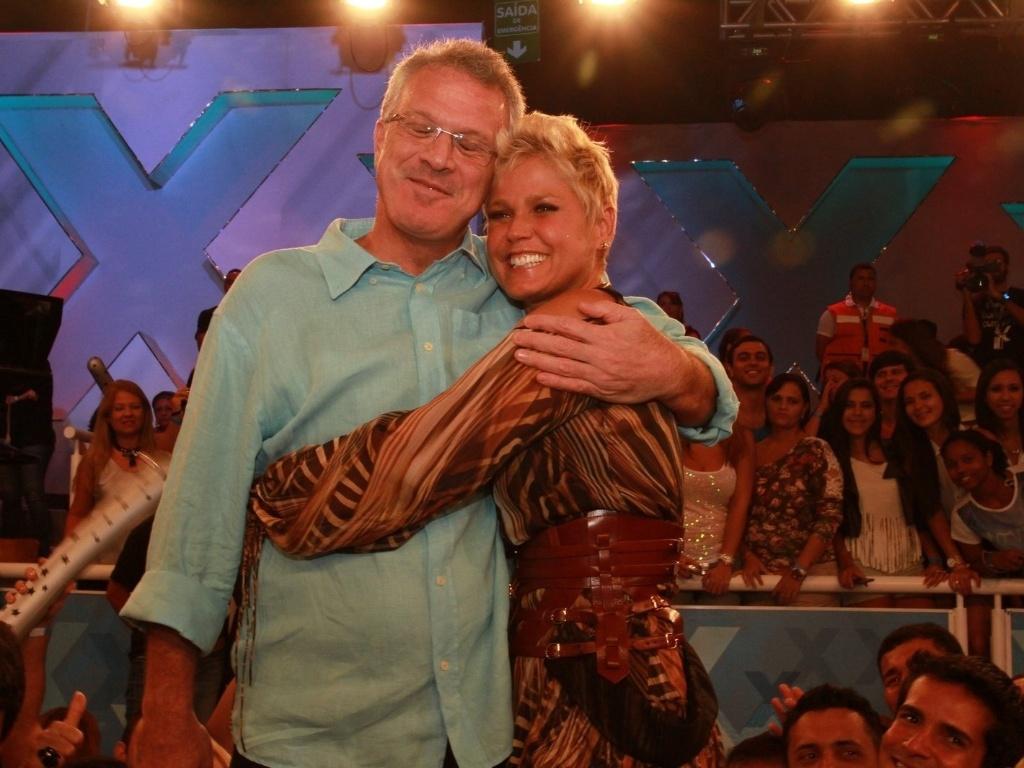 25.mar.2013 - Pedro Bial participou da gravação do programa especial em comemoração aos 50 anos de Xuxa. A gravação do