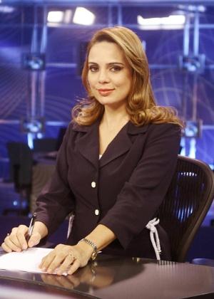 Sheherazade divide a bancada do telejornal com Joseval Peixoto, de segunda a sexta