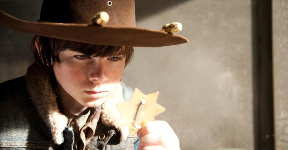 "Cena do final da terceira temporada de ""The Walking Dead"""