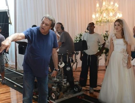 Atriz Ingrid Guimarães grava cenas da novela