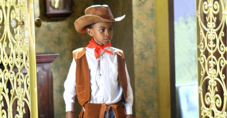 """Em """"Carrossel"""", Cirilo sonha que é um caubói de faroeste"""