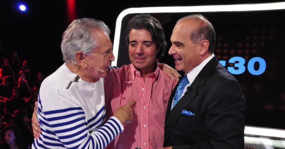 Abr.2013 - Carlos Alberto de Nóbrega, autorizado pelo SBT, gravou o