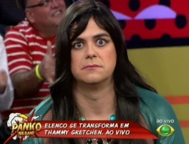 21.abr.2013 - Márvio Lúcio se veste como Lohana, personagem de Thammy Miranda em
