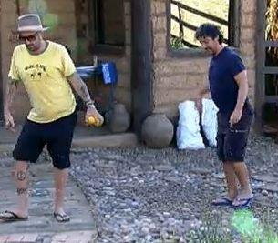 Gui e João Kléber imitam Dinei (26/7/2011)