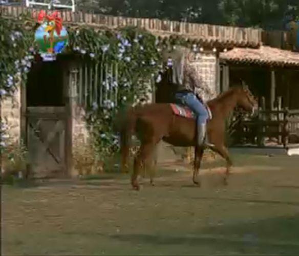 Monique Evans cavalga na égua Xereta (28/7/11)