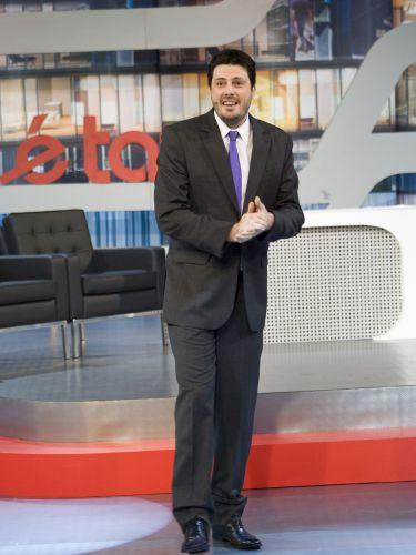 Danilo Gentili nas gravações do piloto de